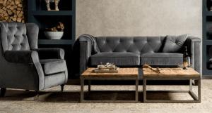 sofa bank met stoel