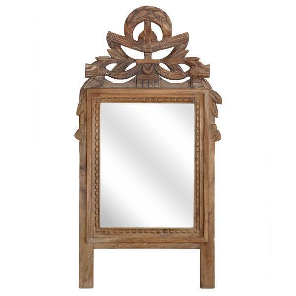 handgemaakte houten spiegel