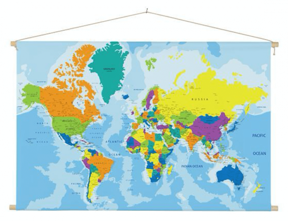 wereldkaart interieur