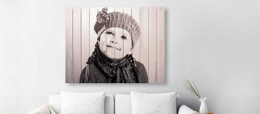 persoonlijke foto op hout