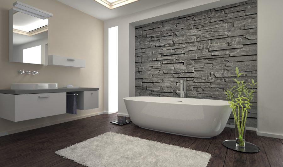 nieuwe bad of douche badkamer