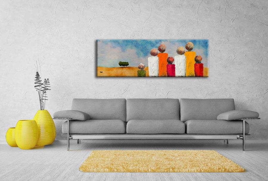 schilderij woonkamer bank