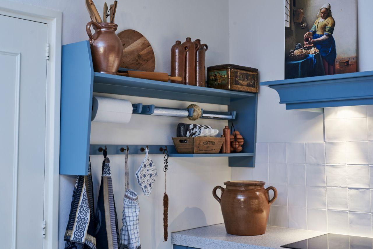 keuken die blauw is