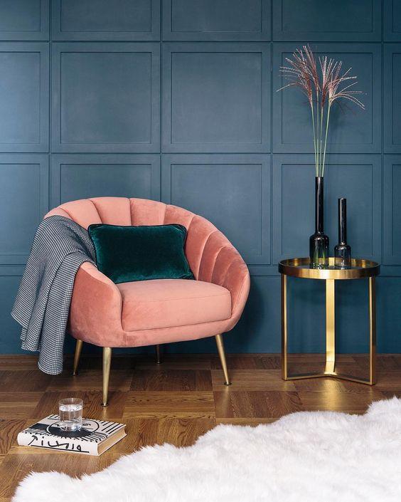 velvet stoel felle kleuren