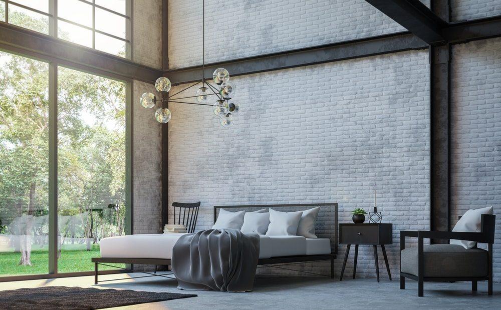 Een donker interieur in de slaapkamer zorgt voor meer rust