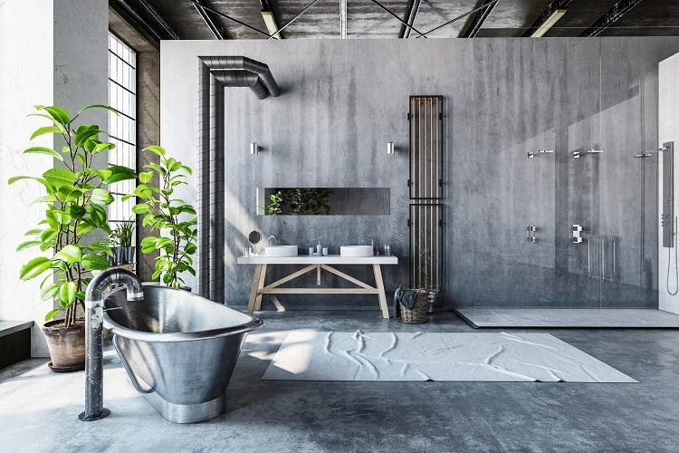 minimalistische uitstraling in de badkamer