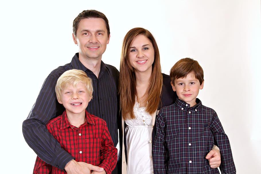 gehele gezin thuis thuis